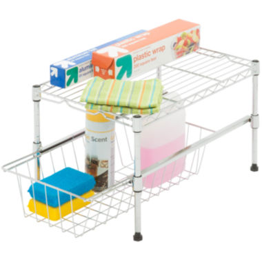 jcpenney.com | Honey-Can-Do® Adjustable Shelf with Basket Cabinet Organizer