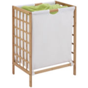 Honey-Can-Do® Bamboo Grid-Frame Hamper