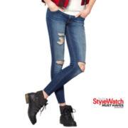 MNG by Mango® Frayed-Hem Skinny Jeans