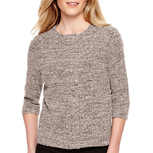 Worthington® Long-Sleeve Textured Swing Jacket - Tall