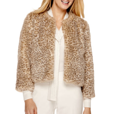 jcpenney.com | Worthington® Cropped Faux-Fur Jacket
