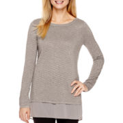 Worthington® Long-Sleeve Layered Sweater