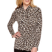 Worthington® Long-Sleeve Twist-Neck Top