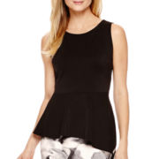 Worthington® Sleeveless Asymmetrical Peplum Top