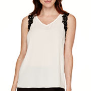 Worthington® Lace-Trim Tank Top - Tall