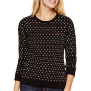 Levi's® Long-Sleeve Polka Dot Crewneck Sweatshirt