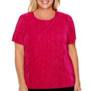 Alfred Dunner® Short-Sleeve Tiered Accordion Top - Plus
