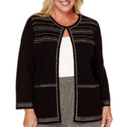 Alfred Dunner® Long-Sleeve Studded Cardigan - Plus