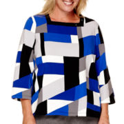 Alfred Dunner® Madrid 3/4-Sleeve Colorblock Top - Plus