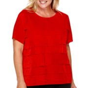 Alfred Dunner® Madrid Short-Sleeve Tiered Top - Plus