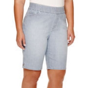 Gloria Vanderbilt® Avery Pull-On Bermuda Shorts - Plus