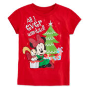 Disney Collection Christmas Graphic Tee - Girls 2-12