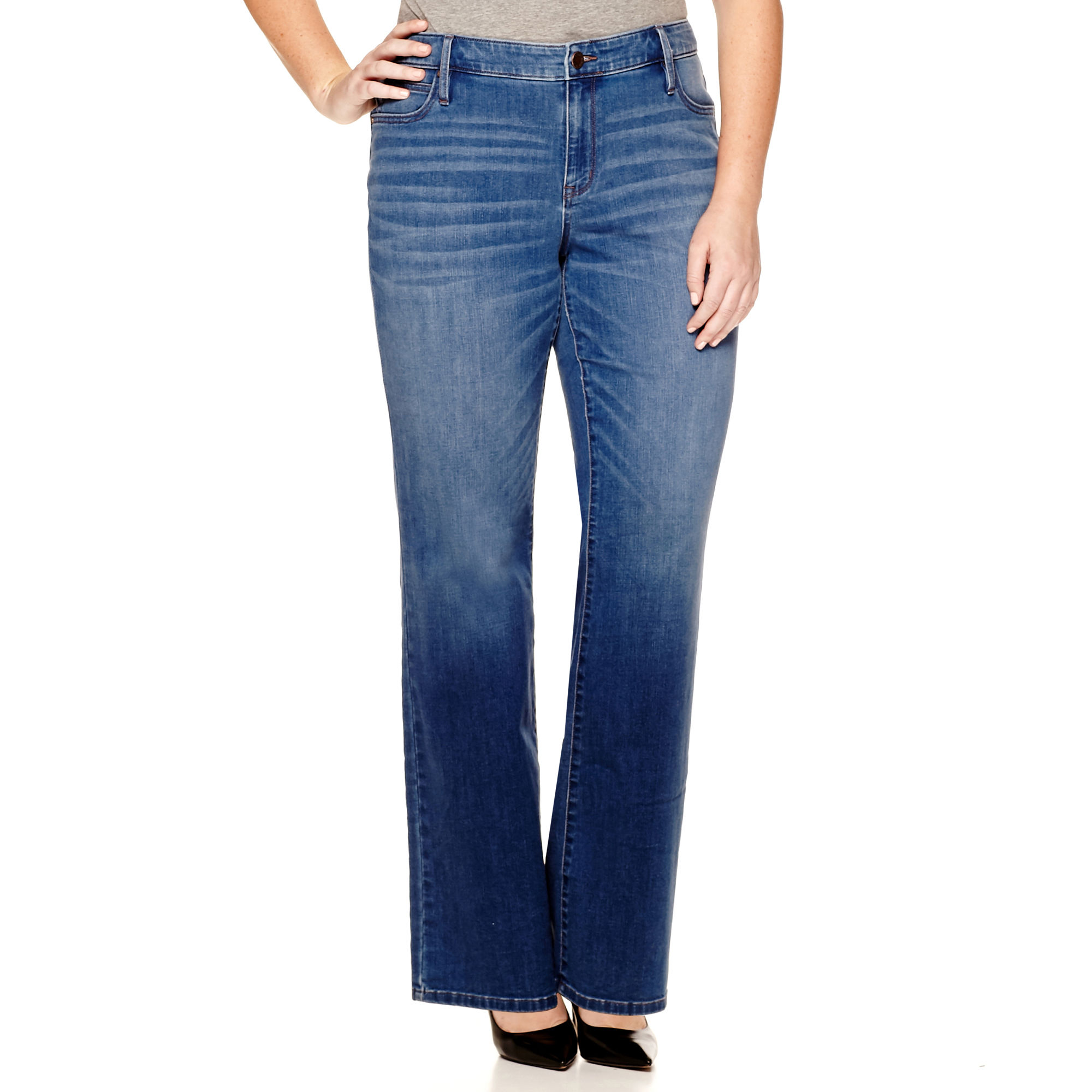 a.n.a Bootcut Jeans - Plus