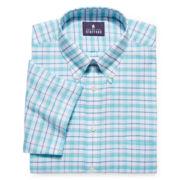 Stafford® Travel Short-Sleeve Oxford Dress Shirt - Big & Tall