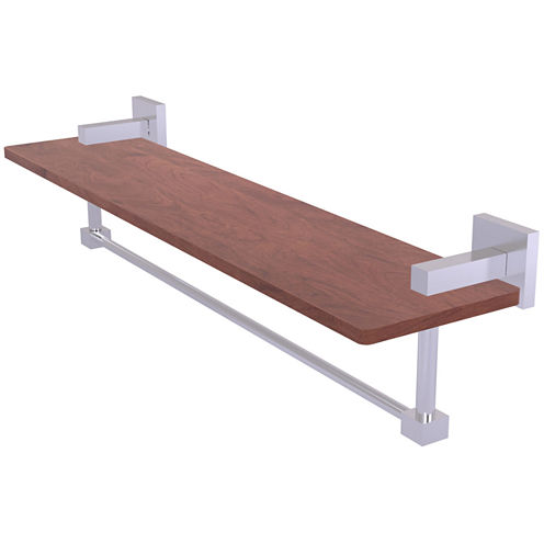 Allied Brass Montero Collection 22 IN Solid Ipe Ironwood Shelf With Integrated Towel Bar