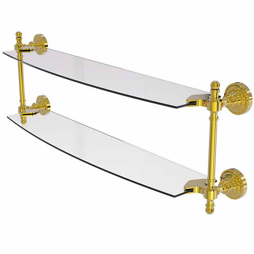 Allied Brass Retro Dot Collection 24 IN Two TieredGlass Shelf