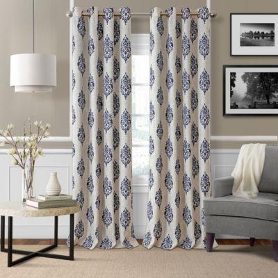 Elrene Navara Blackout Curtains Grommet Top Curtain Panel