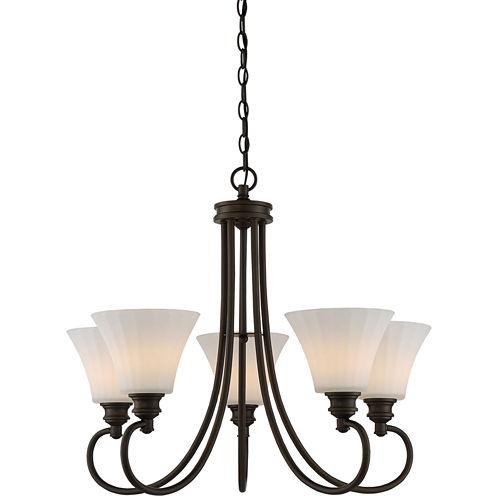 Filament Design 5-Light Aged Bronze Chandelier