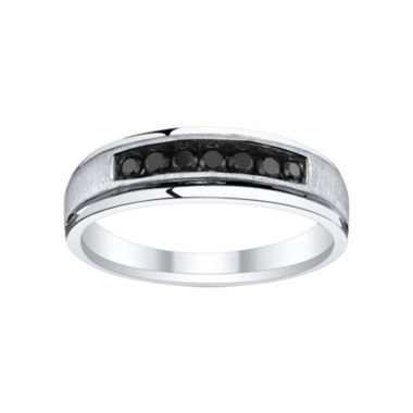 jcpenney.com | Mens 1/3 CT. T.W. Color-Enhanced Black Diamond Band