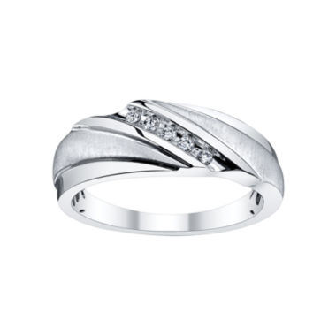 jcpenney.com | Mens 1/10 CT. T.W. Diamond 5-Stone Band