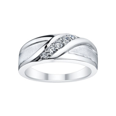 jcpenney.com | Mens 1/4 CT. T.W. Diamond Foldover Band
