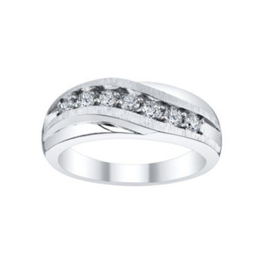 jcpenney.com | Mens 1/2 CT. T.W. Diamond Wave Band