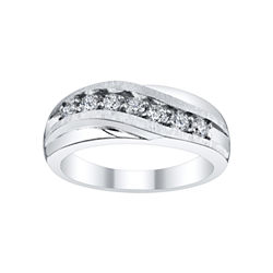 Mens 1/2 CT. T.W. Diamond Wave Band