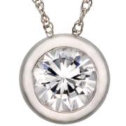 DiamonArt® Cubic Zirconia 1¼ CT. T.W. Bezel Pendant Necklace