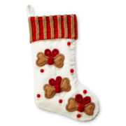 MarthaHoliday™ Velvet Pet Christmas Stocking