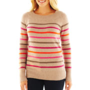 St. John's Bay® Ballerina-Neck Sweater