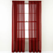 Royal Velvet® Stanza Rod-Pocket Sheer Panel