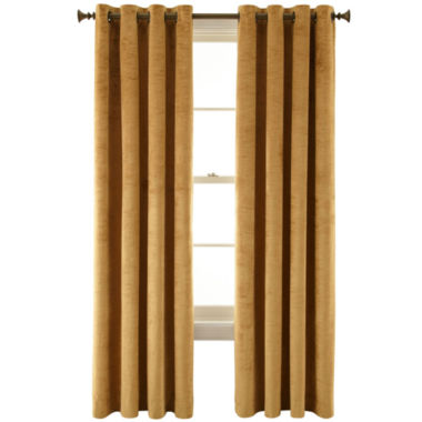 jcpenney.com | Royal Velvet® Augusta Velvet Rod-Pocket Curtain Panel
