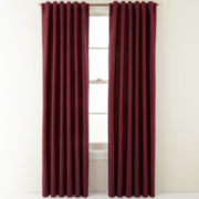 Royal Velvet® Silk Pinstripe Back-Tab Curtain Panel
