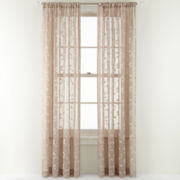 MarthaWindow™ Peeking Vine Rod-Pocket Sheer Panel