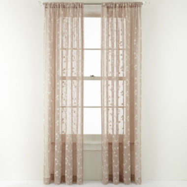 jcpenney.com | MarthaWindow™ Peeking Vine Rod-Pocket Sheer Panel