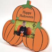 Happy Halloween Pumpkins Picture Frame