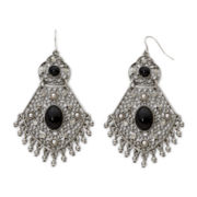 Decree® Silver-Tone Drop Earrings