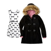 Pinky Skater Dress or Total Girl® Wool Coat - Girls