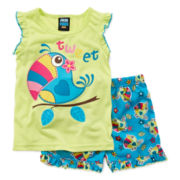 Jelli Fish Kids 2-pc. Pajama Shorts Set - Girls 2t-4t
