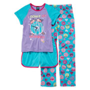 Jelli Fish Kids 3-pc. Pajama Set - Girls 4-16