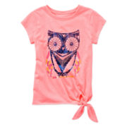 Arizona Short-Sleeve Tie-Front Tee - Girls 4-6x