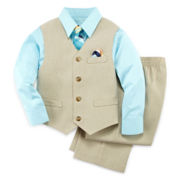 4-pc. Khaki Vest Set—Boys 2t-5t