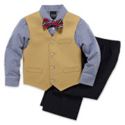 4-pc. Khaki Twill Vest Set—Boys 2t-5t