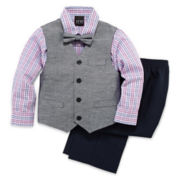 TFW 4-pc. Dress Shirt, Tie, Vest and Pants Set – Boys 4-10
