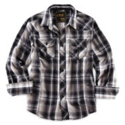 Chalc® Button-Front Long-Sleeve Plaid Shirt – Boys 6-18