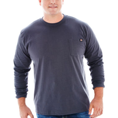 jcpenney.com | Dickies® Heavyweight Long-Sleeve Pocket Tee–Big & Tall