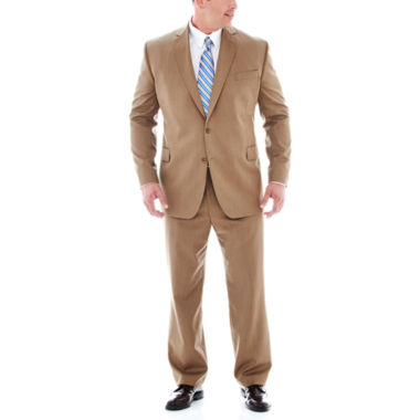 jcpenney.com | Stafford® Travel Tan Herringbone Suit Separates - Big & Tall