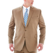 Stafford® Travel Tan Herringbone Suit Jacket - Big & Tall