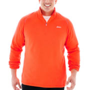 ASICS® Essential Check Quarter–Zip Fleece Pullover–Big & Tall