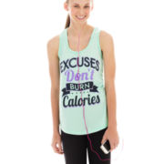 Chin-Up Graphic Tank Top with Headphones
